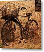Let's Go Ride A Bike Metal Print