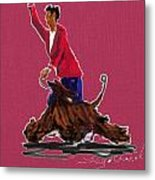 Lets Tango In Red Metal Print