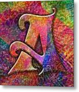 Letter A Metal Print