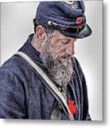 Letter From Home Union Soldier  Metal Print