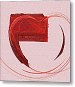 Letter From My Heart Fine Fractal Art Metal Print