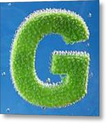 letter G underwater with bubbles  Metal Print