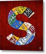 Letter S Alphabet Vintage License Plate Art Metal Print