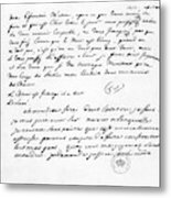 Letter To Voltaire From King Frederick Metal Print