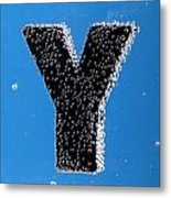 letter Y underwater with bubbles Metal Print