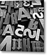Letters And Numbers 1 Metal Print