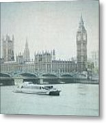 Letters From The Thames - London Metal Print