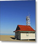 Leuty Lifeguard Station In Toronto Metal Print