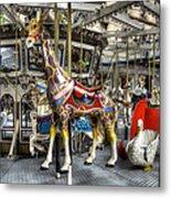 Levitating Giraffe Metal Print