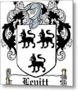 Levitt Coat Of Arms Irish Metal Print