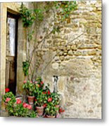 Levroux France Entrance Metal Print