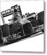 Lewis Hamilton Metal Print by James Wing