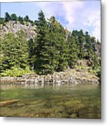 Lewis River Landscape Metal Print