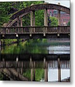 Lewiston Canal Bridge Metal Print