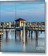 Lexington Harbor With No Boats Metal Print
