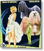 Lhasa Apso Art - The Seven Year Itch Movie Poster Metal Print