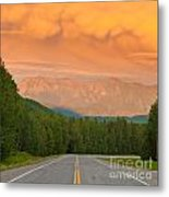 Liard River Valley Alaska Highway Bc Canada Sunset Metal Print