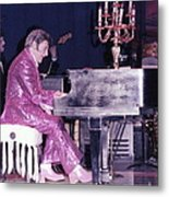 Liberace Piano Candelabra 1970 - We Will Be Seeing You Lee Liberace Metal Print