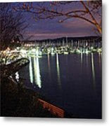 Liberty Bay At Night Metal Print