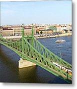 Liberty Bridge And Budapest Skyline Metal Print