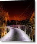 Liberty Bridge At Night Metal Print