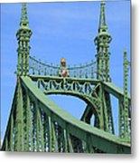 Liberty Bridge Budapest Metal Print