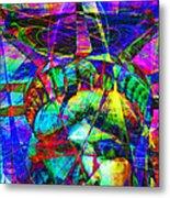 Liberty Head Abstract 20130618 Square Metal Print