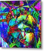Liberty Head Abstract 20130618 Metal Print