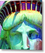 Liberty Head Painterly 20130618 Long Metal Print by Wingsdomain Art and Photography