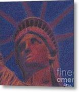 Liberty In Red Metal Print