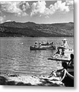 Liberty Lake Summer Leisure In 1940 Metal Print