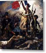 Liberty Leading The People During The French Revolution Metal Print
