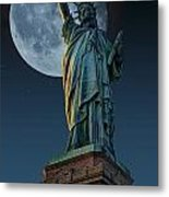 Liberty Moon Metal Print