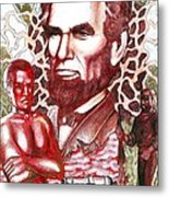 Liberty Red Metal Print