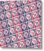 Liberty Stamps Collage Metal Print