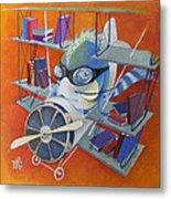 Librarian Pilot Metal Print by Marina Gnetetsky