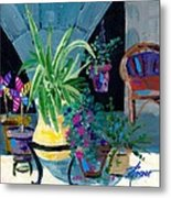 Library Courtyard-rhodes Old Town Metal Print