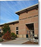 Library In Clare Michigan Metal Print