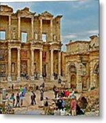 Library Of Celsus In Ephesus-turkey Metal Print