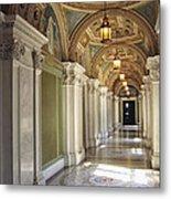 Library Of Congress Hallway Washington Dc Metal Print