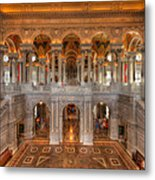 Library Of Congress Metal Print by Steve Gadomski