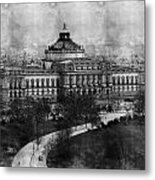 Library Of Congress Washington Dc 1902 Sketch Metal Print