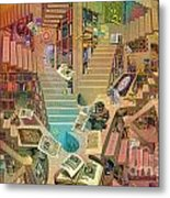 Library Of The Mind Metal Print