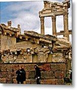 Library On The Pergamum Acropolis-turkey Metal Print