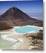 Licancabur Volcano And Laguna Verde Metal Print