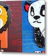 License Plate Art Jungle Animals Series 1 Metal Print