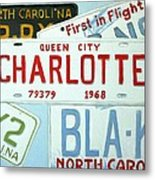 License Plates Metal Print by Stacy C Bottoms