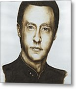 Lieutenant Commander Data Star Trek Tng Metal Print by Giulia Riva