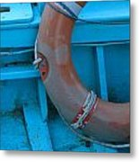 Life Belt In A Skiff Metal Print by Ulrich Kunst And Bettina Scheidulin