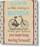 Life-bicycle Metal Print